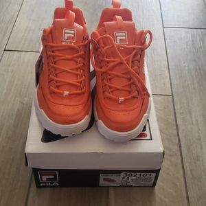 Orange Fila Sneakers